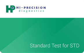 Hi-Precision Standard STD Test    ₱850 one-time payment   One-time use diagnostic test to screen for infection of common sexually transmitted diseases (STD)