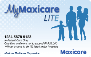 My Maxicare Lite Blue    ₱1,999 one-time payment   One-time hospitalization for common viral diseases up to ₱ 25,000 in Maxicare's accredited hospitals