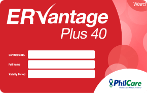 PhilCare ER Vantage Plus Adults 40k    ₱1,050 one-time payment   One-time use for emergency & hospitalization coverage up to ₱ 40,000 for 18 - 64 years old