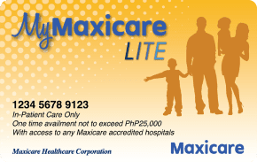 My Maxicare Lite Yellow    ₱2,499 one-time payment   One-time hospitalization for common viral diseases up to ₱ 25,000 with access to top hospitals in Manila