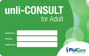 PhilCare Unli-consult for Adults   ₱3,600 one-time payment   Unlimited medical and dental consultations for 18-64 years old