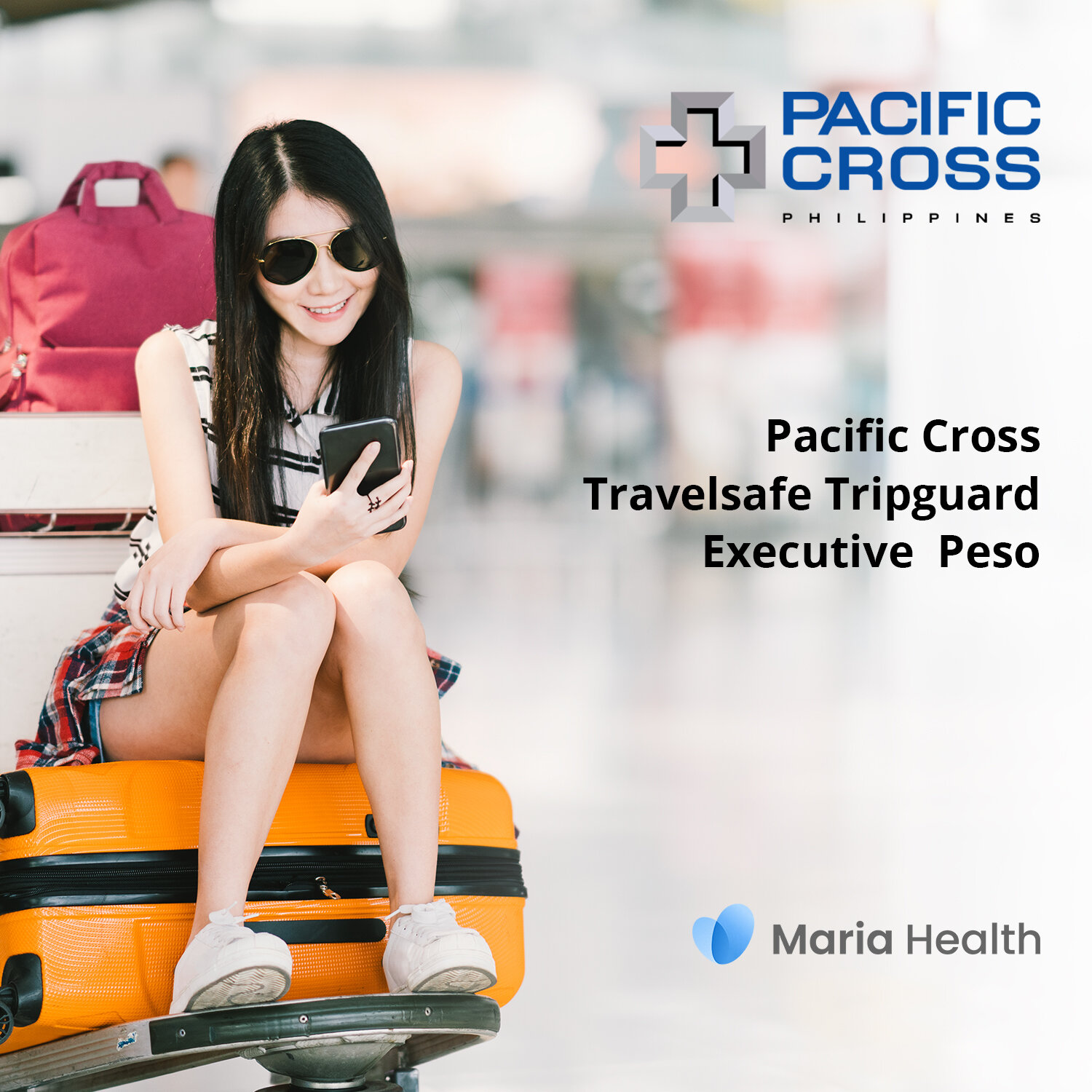 Pacific Cross Travelsafe Tripguard Executive Peso    ₱247 one-time payment   The Travelsafe Tripguard Executive Peso lets you enjoy up to   ₱500,000 of medical treatment with travel inconveniences, and personal accidents when you're travelling.