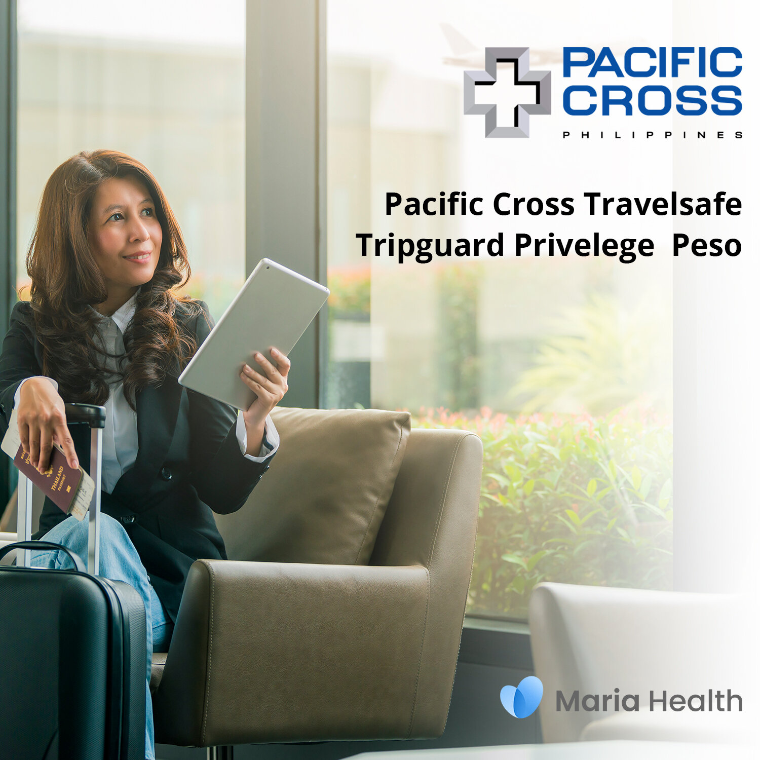 Pacific Cross Travelsafe Tripguard Privilege Peso    ₱573 one-time payment   One-time use travel insurance that covers up to ₱2,500,000 medical treatment.