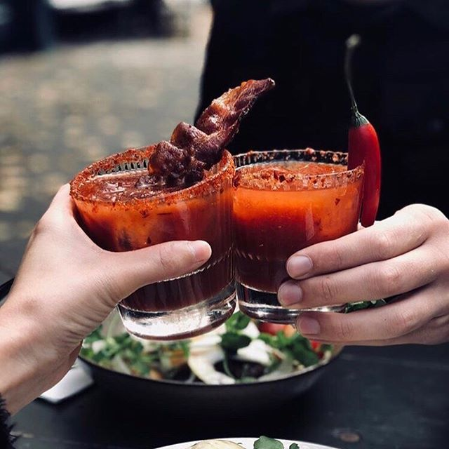 Bloody Mary, full of tabasco, blessed you are among cocktails 🍅 ⠀⠀ Merci @frikandellaa for the handsome snap!
