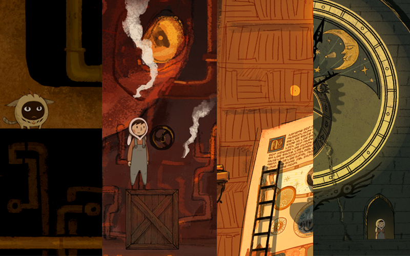 Images from some of the newly developed mockup levels