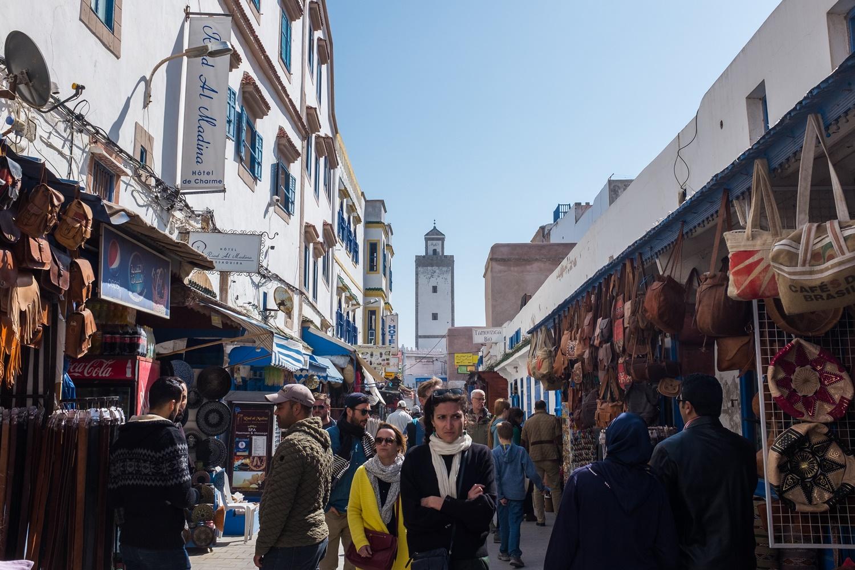 Essaouira shopping street in the Medina