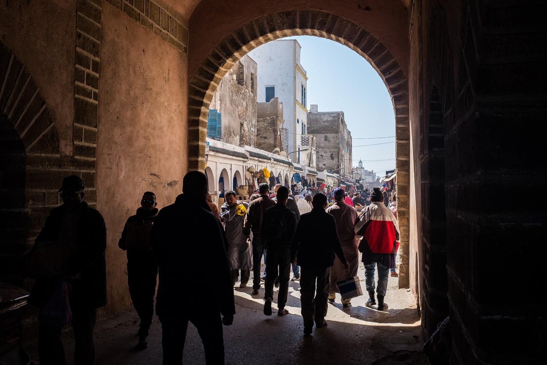 Entering Essaouira