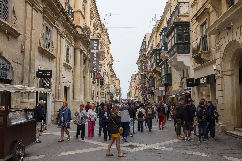On the streets of Valletta