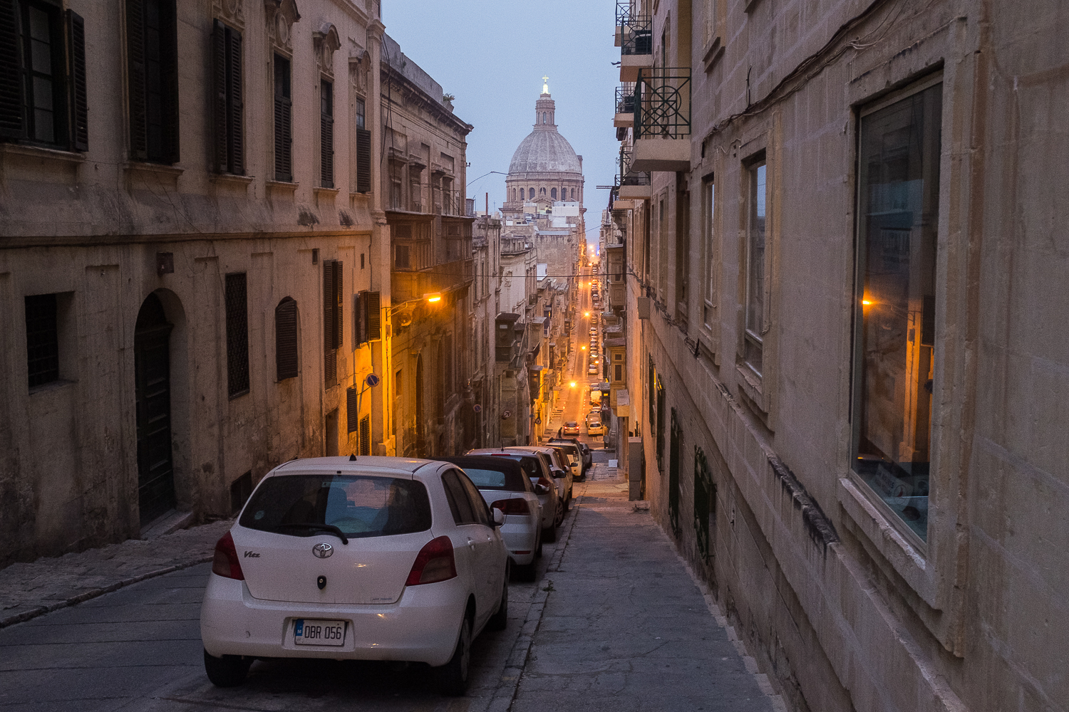 On the streets of Valletta