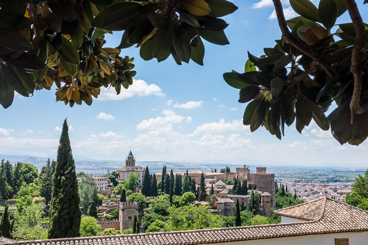View of Alhambra from Palacio de Generalife