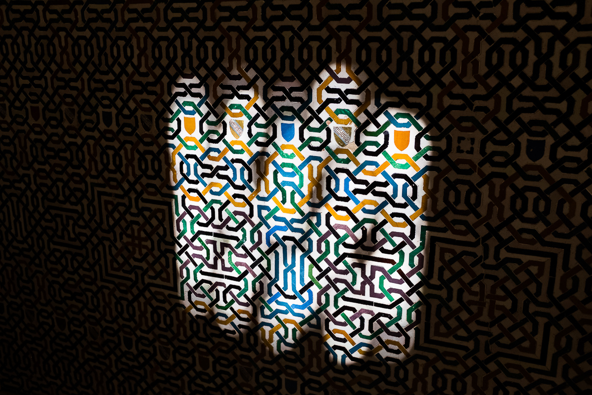 Light falling on the tessellations.