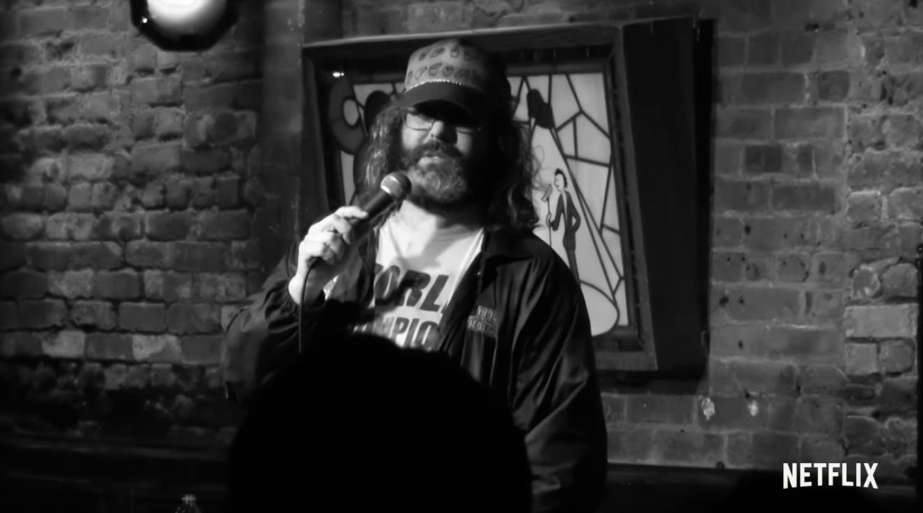 Screenshot of Judah Friedlander from his Netflix special.