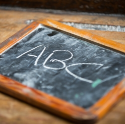 Picture of chalkboard from ABCs of Social Success report cover