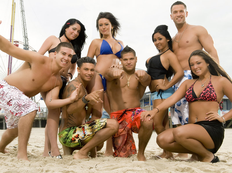 Picture of the cast of MTV reality show The Jersey Shore, for which we apologize.