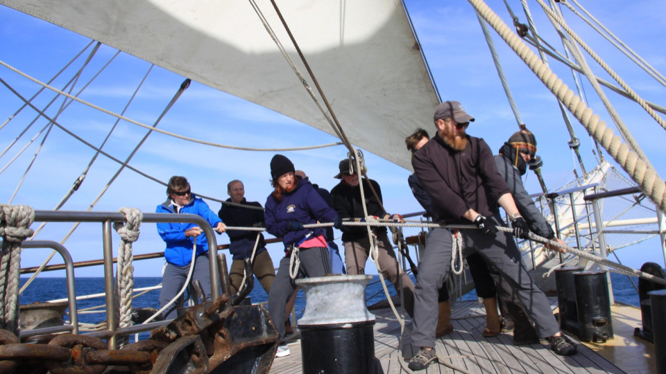 Mixed-Ability Sailing Crew Sets a Sail