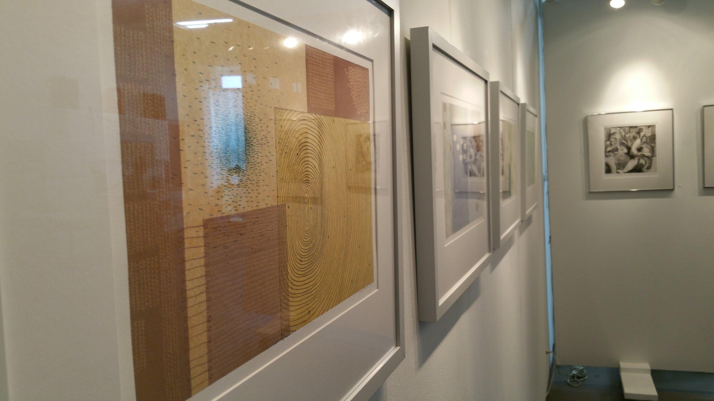 Exhibition shot, Sarah Smelser and Micah Zavacky.