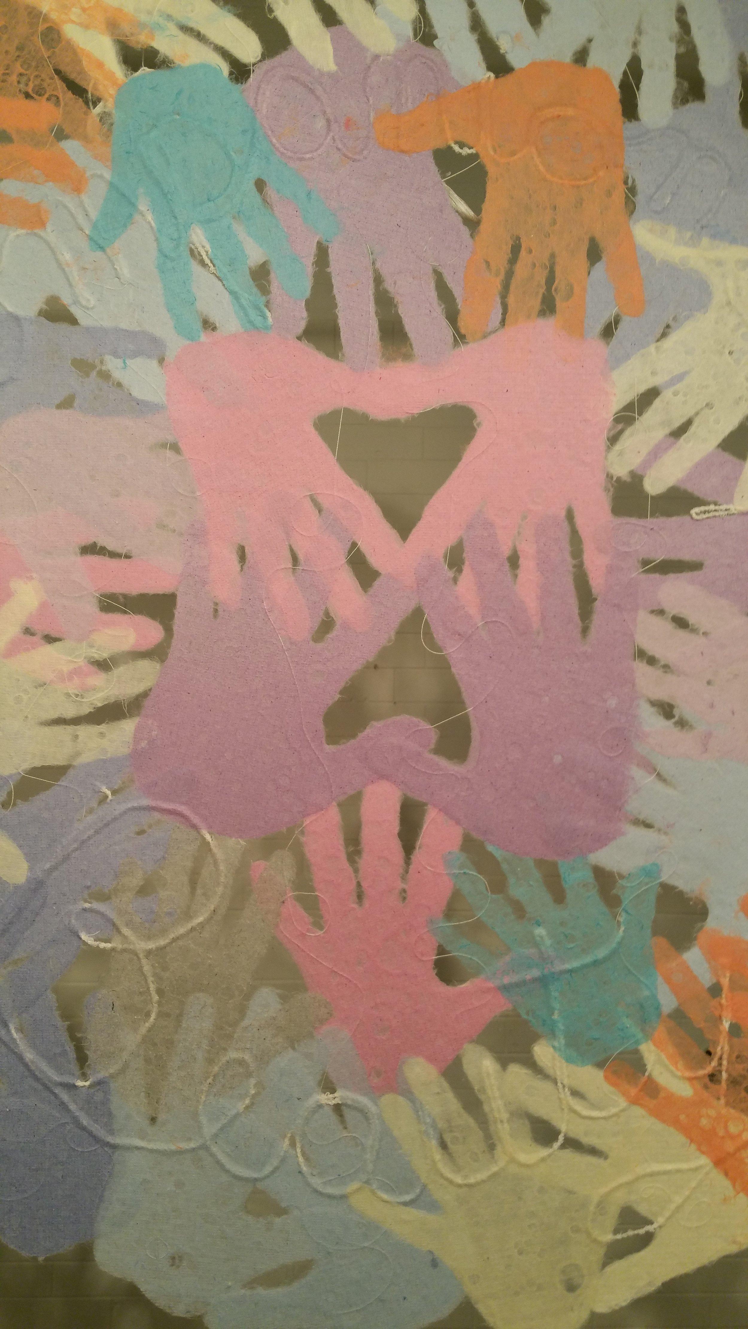 (detail)  Inner Circle  by Meda and Veda Rives.