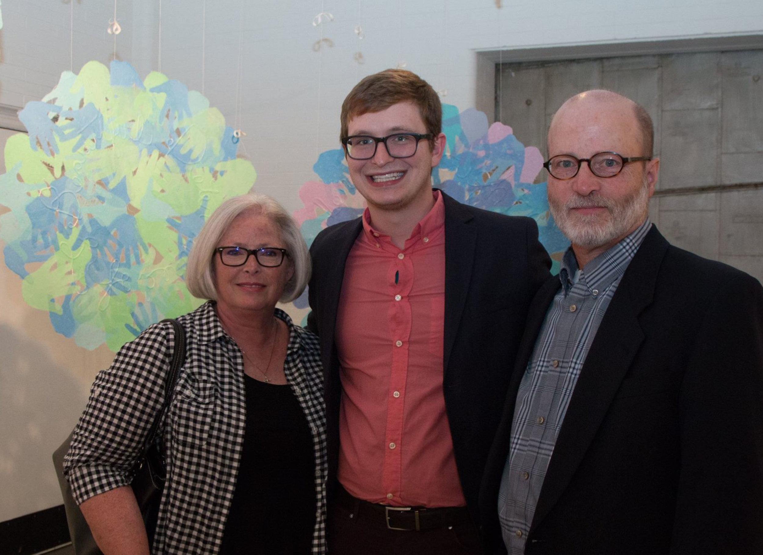 Micah Zavacky with Richard Finch and his wife. Photo courtesy: Justine Kaszynski Photography