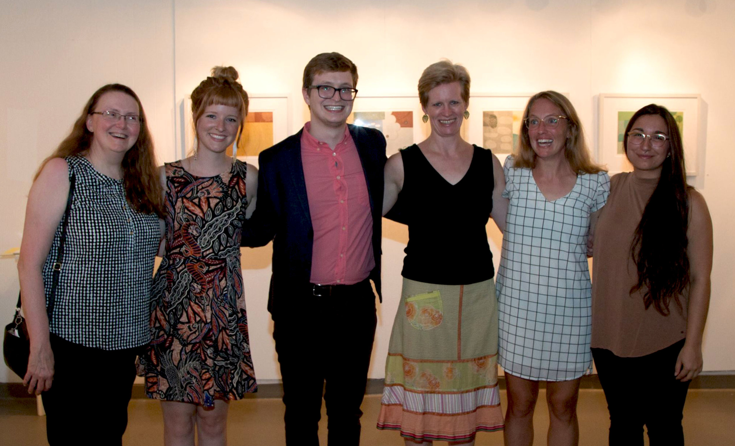 (left to right) Veda Rives, Molly Markow, Micah Zavacky, Sarah Smelser, Dylan Welch, and Felicia Cannon. Photo courtesy: Justine Kaszynski Photography.