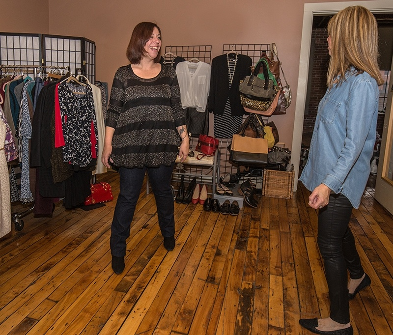 """Susan Kanoff  Osborne was nearly moved to tears by her experience at """"Uncommon Threads."""" She's very candid about how she felt before her visit to the boutique.  Erika Tarantal"""