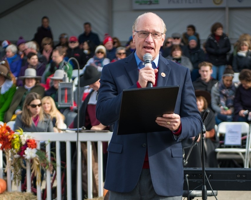 congressman william keating reading the proclamation