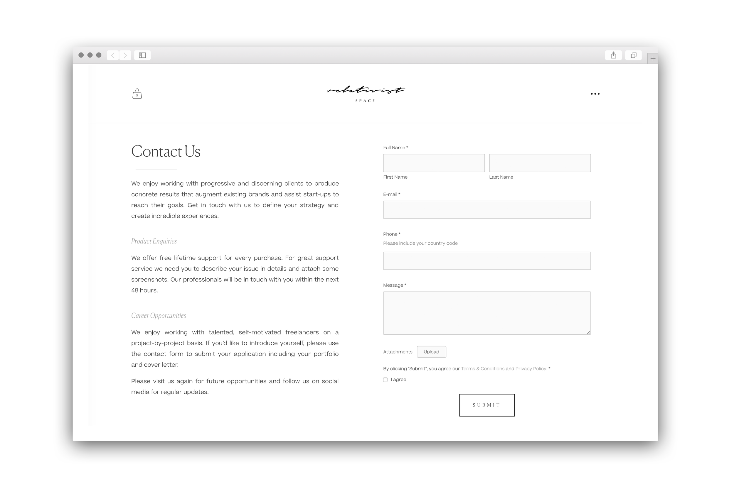 Relativist Space Journal - File Attachment Option for Squarespace Forms