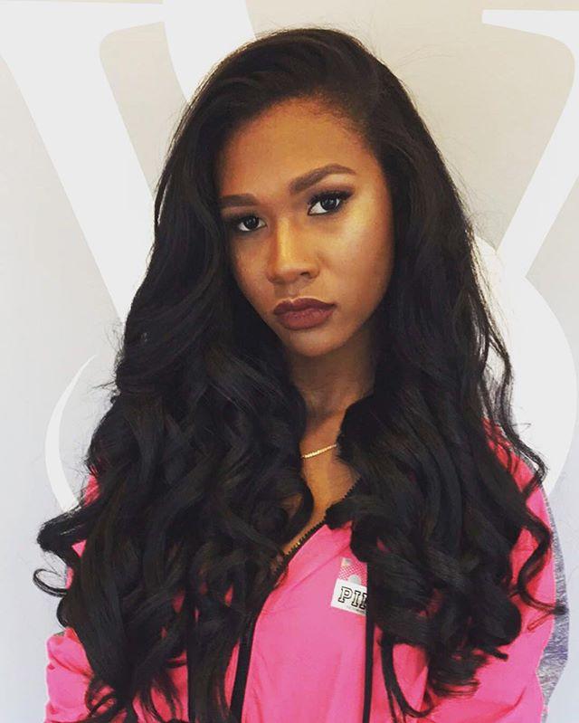 Stamford High School Senior Prom Queen👑👑👑 #PromQueen #Prom #Hair #SilkPress #NoWeave #VanityStudio #SignatureCurls