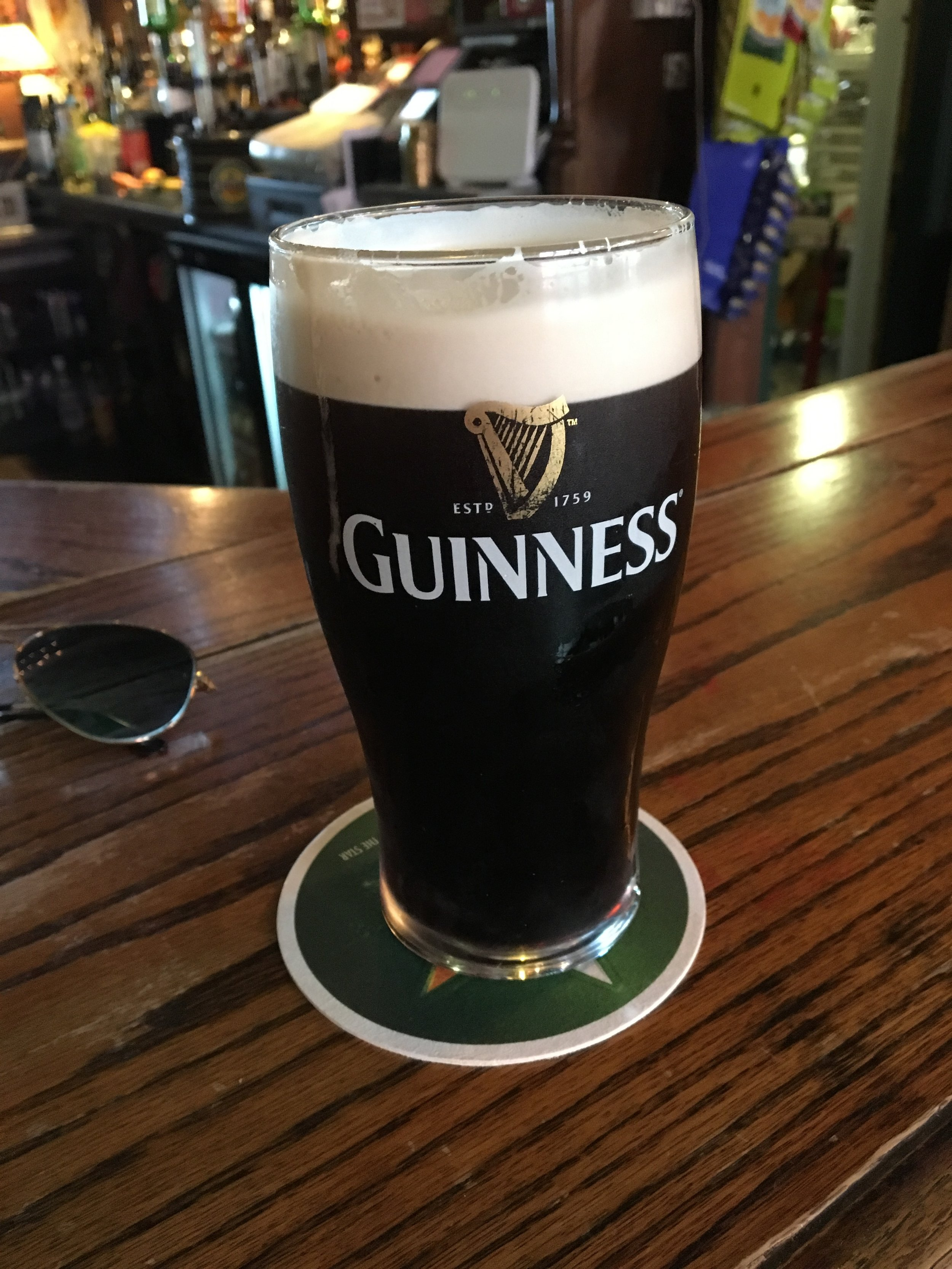 Perhaps the best Guinness I've ever had - somewhere in Ireland...