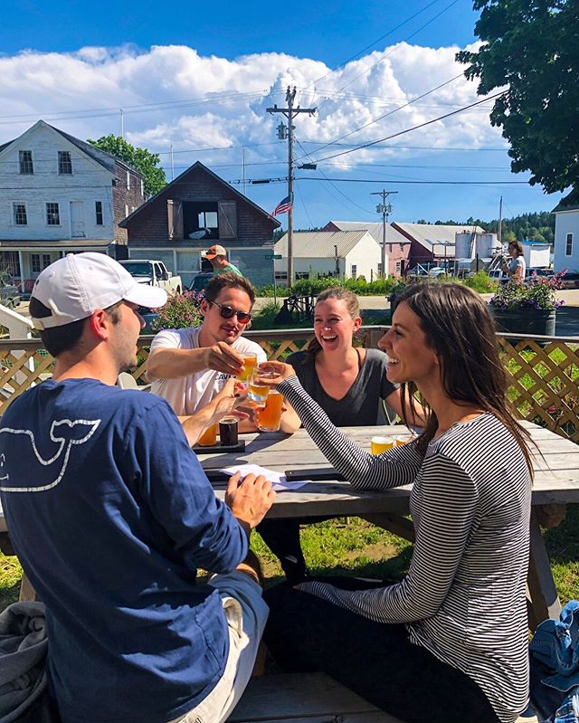 The clouds have rolled out and the patio is prime! We are open until 7:30 tonight when Pub Theology begins - all welcome to join. Cheers! . . . . .  #beer #maine #northhavenmaine #penobscotbay #craftbeer #independentbeer #smallbusiness #mainebeer