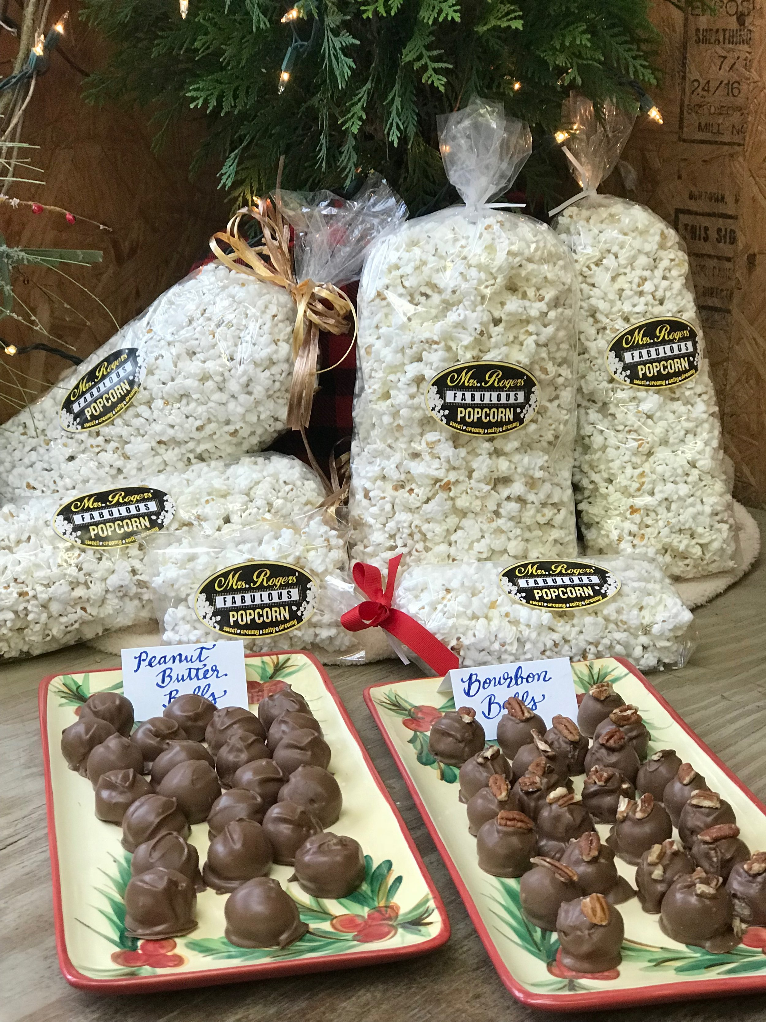 Popcorn and goodies by Mrs. Roger's Fabulous Favorites! @MrsRogersFabulousFavorites  www.mrsrogerspopcorn.com