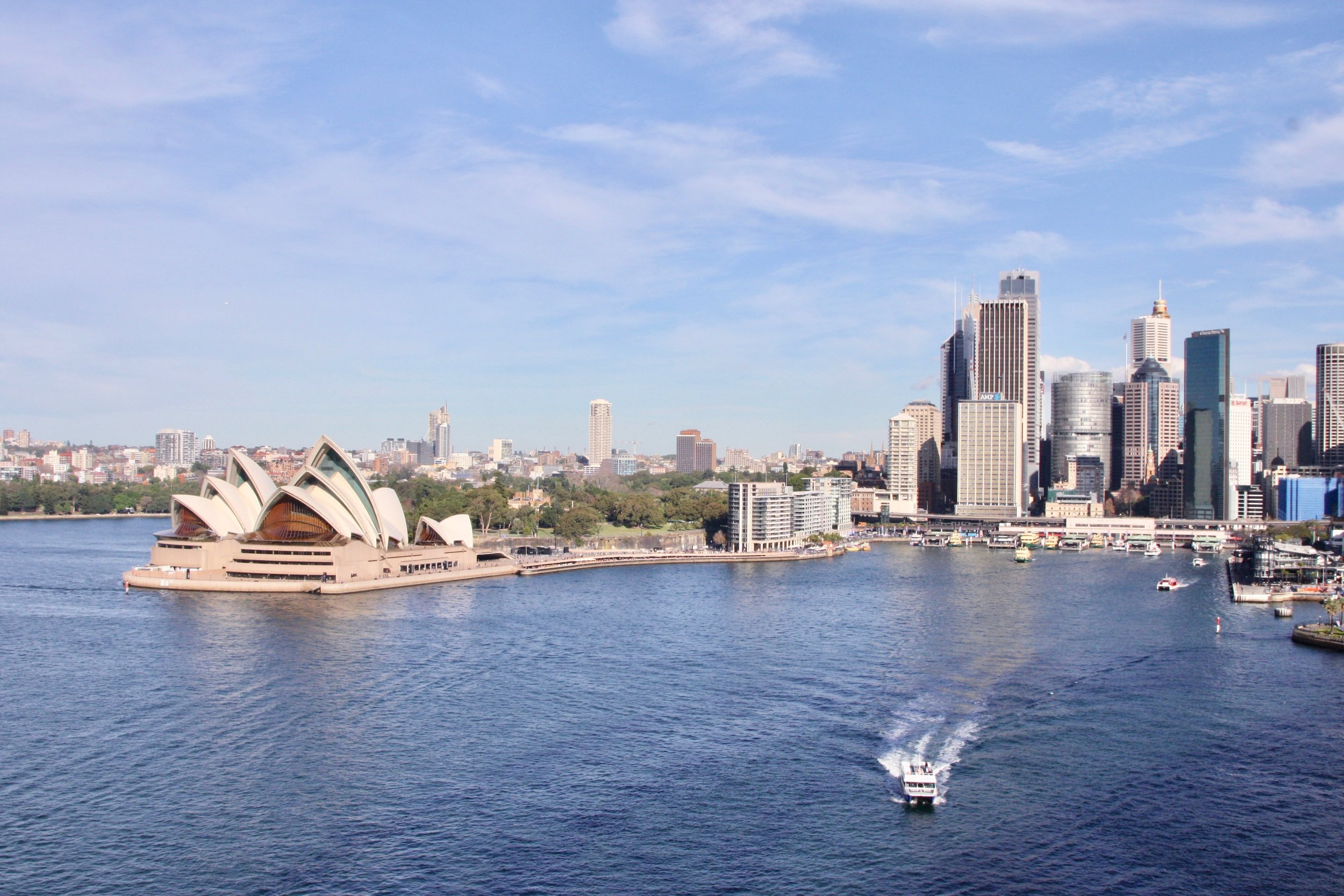 View from Sydney Harbour Bridge.