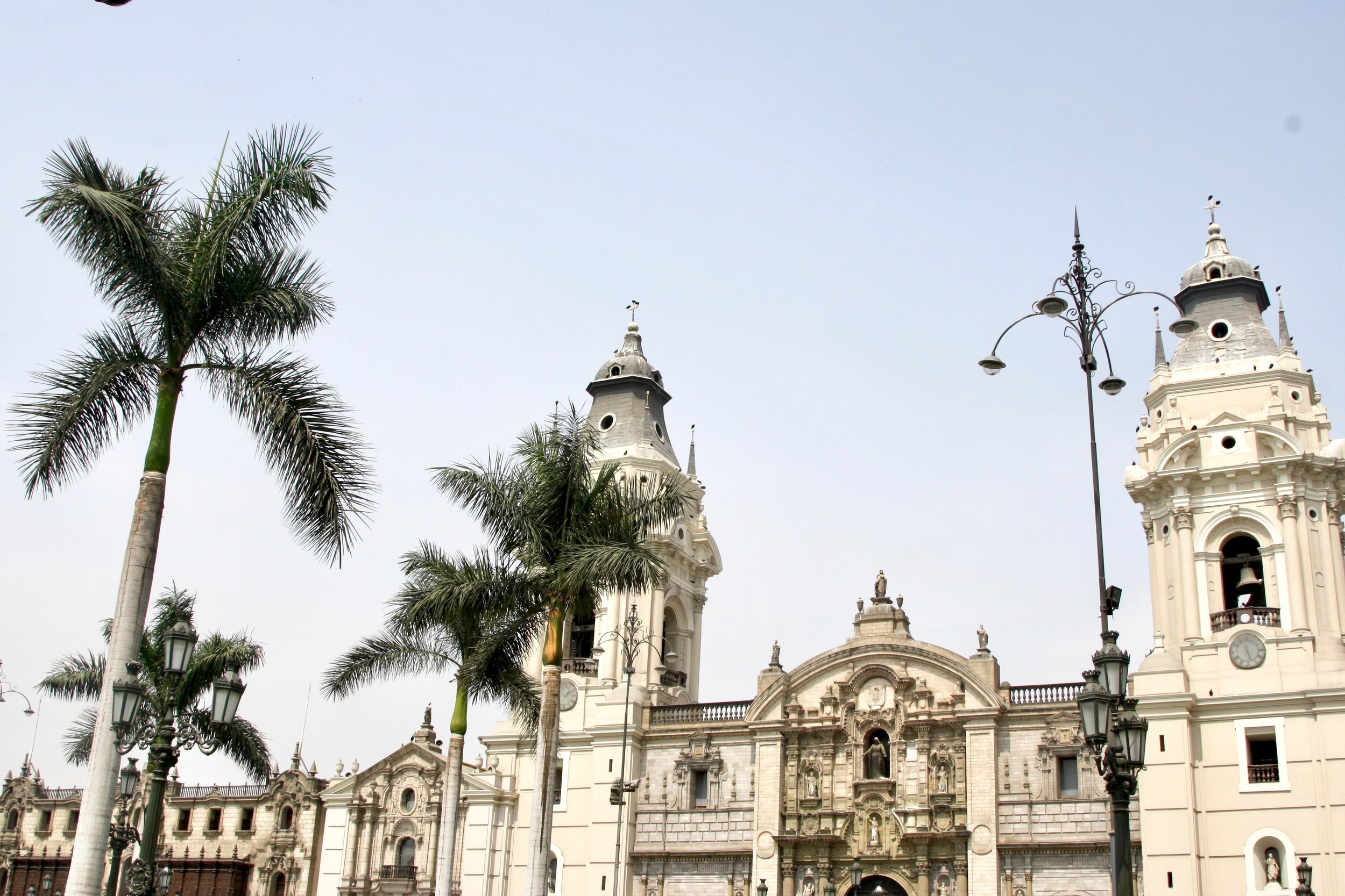 Historic center of Lima.