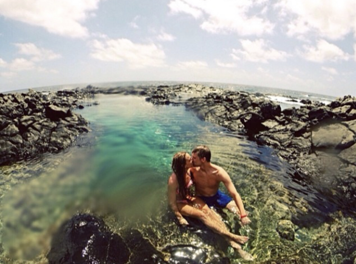 Taken by a random girl with our GoPro in Honolulu, Hawaii.