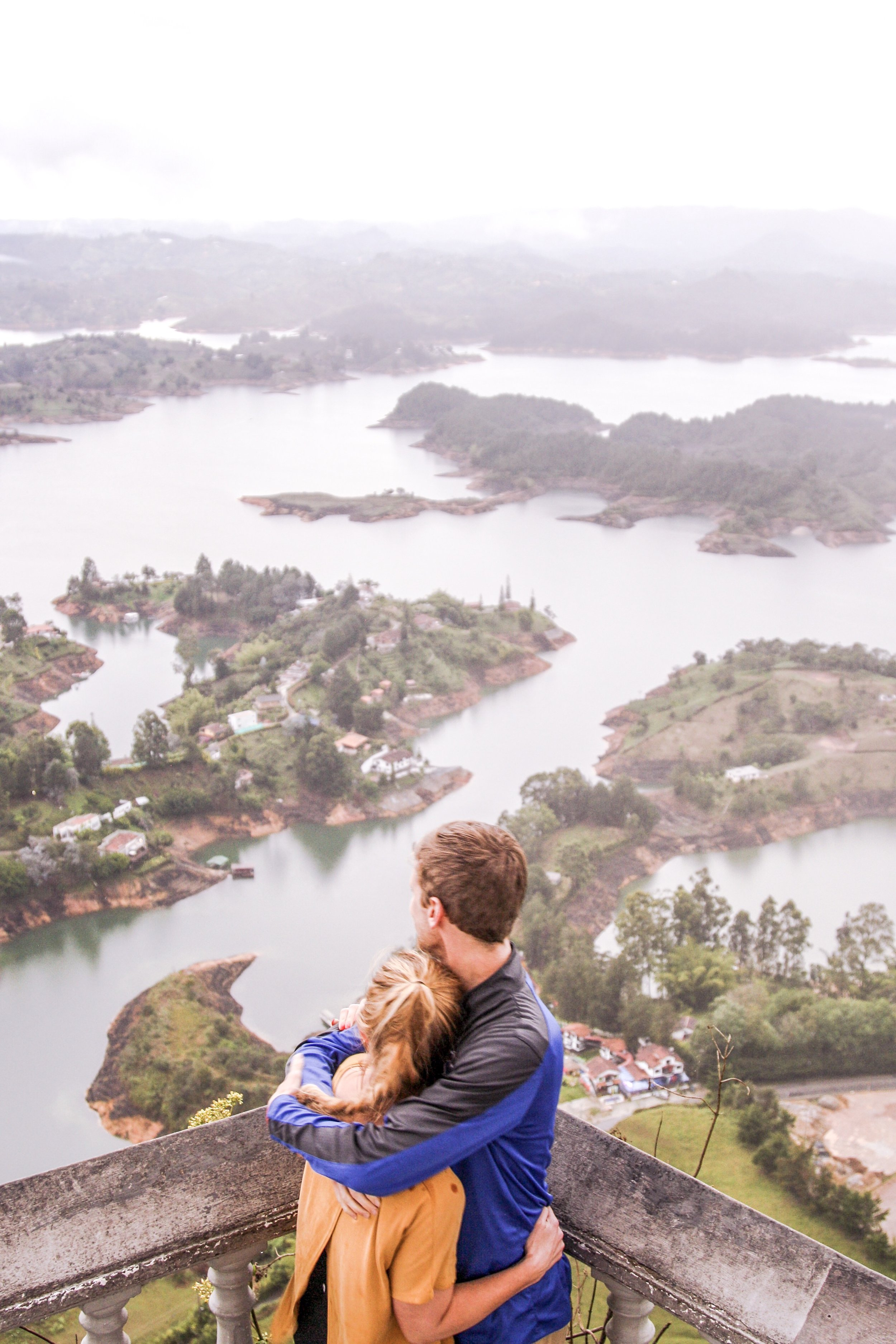 Our friend J.J. took this photo for us in Guatape, Colombia using my DSLR camera.