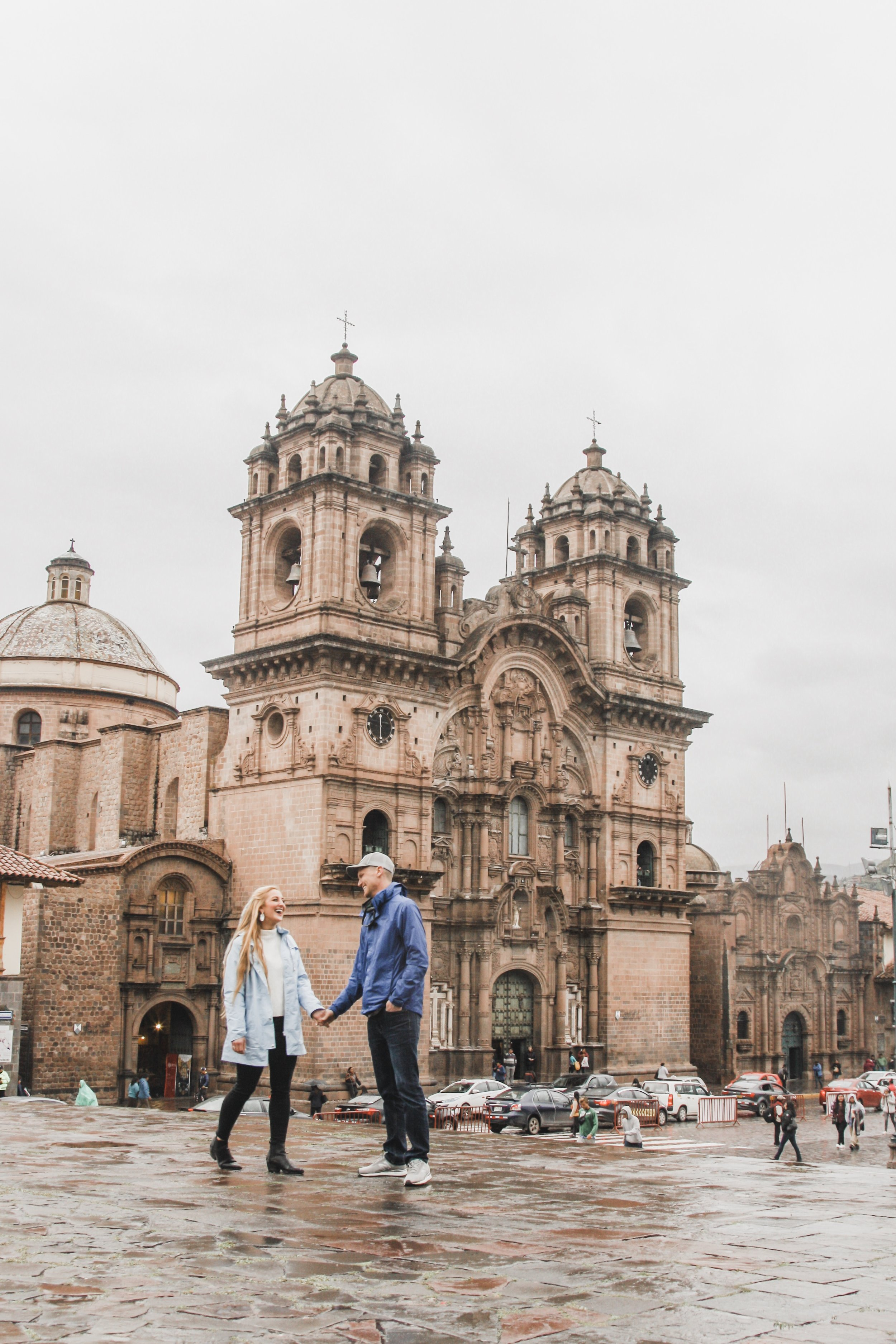 Our guide snapped this photo of us with my DSLR in Cusco, Peru.