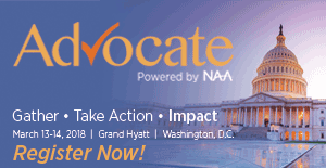 NAA members and affiliates will gather on Capitol Hill to share their stories with legislators and actively influence public policy. Advocate is the opportunity to take action with the collective goal of bringing the industry's issues in front of all 535 members of Congress.