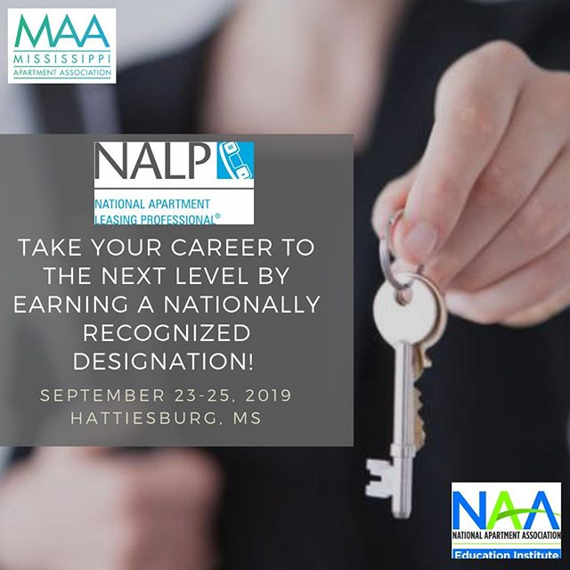 We are excited to offer the NALP course in the Pine Belt in September!  #EarnADesingation #EarnWithMAA #NAAEI #NALP