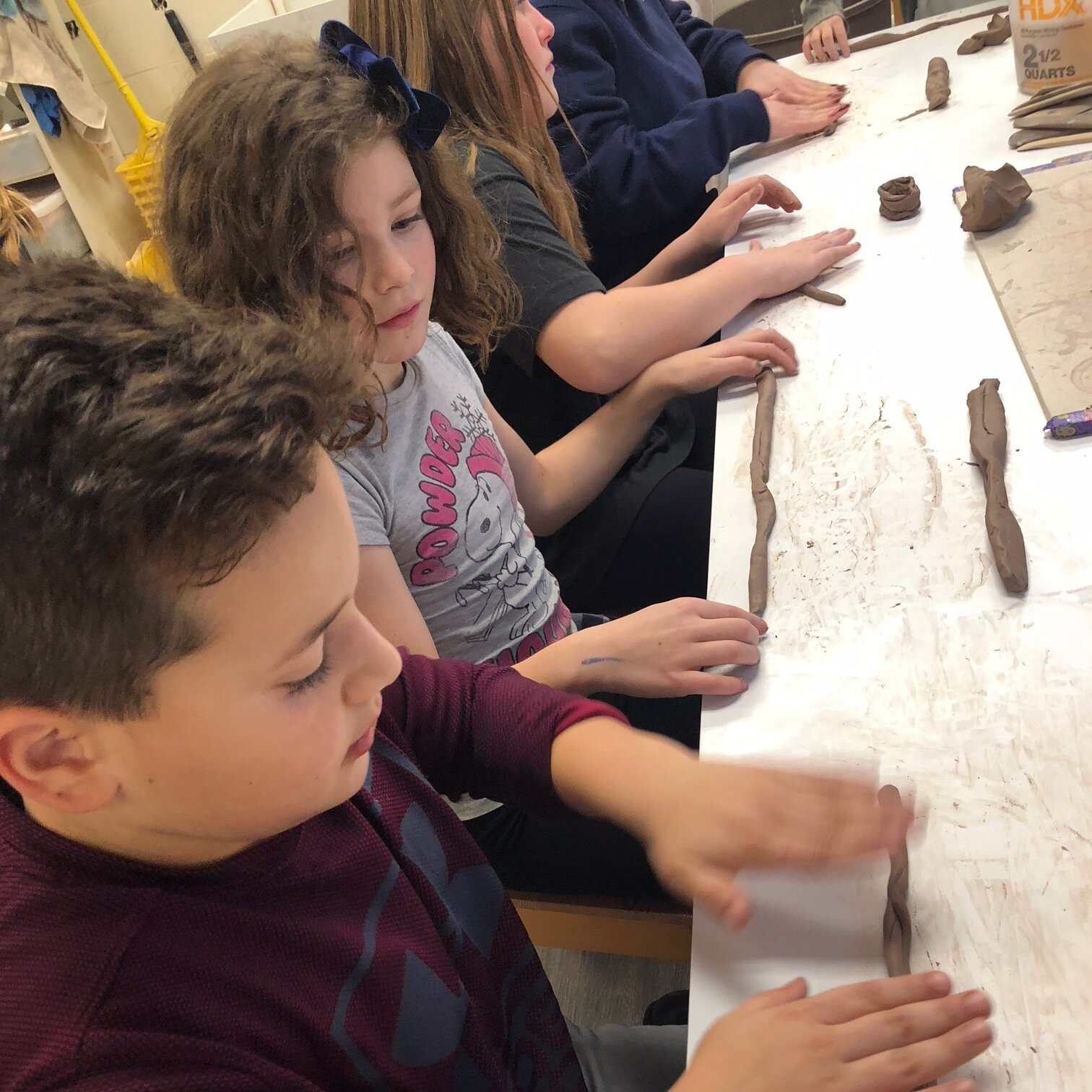 School's Out Students get creative with clay!