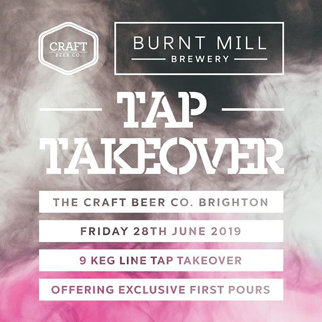 We're very excited to be welcoming @burntmillbrewery down at @craftbeercobn1. We'll be hosting a full line up of Keg Beers, featuring exclusive first pours of their latest brews! 😋