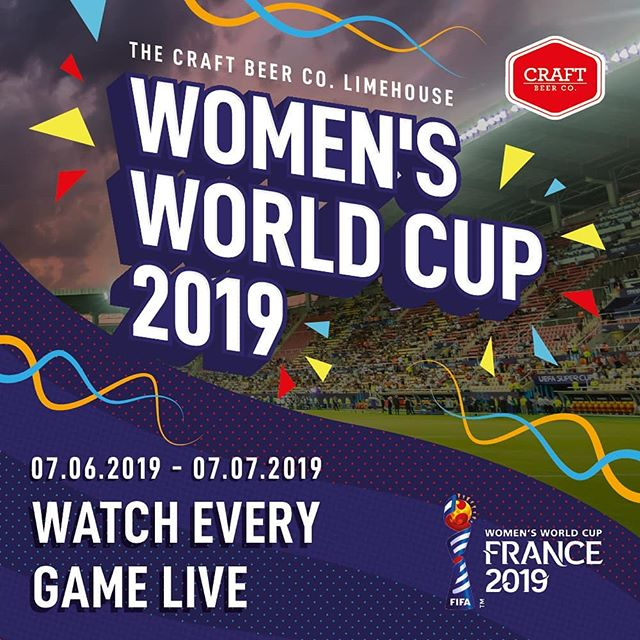 Join @craftbeercoe14 and watch all the Women's World Cup 2019 action with the best curated selection of craft beer, wines & spirits ⚽
