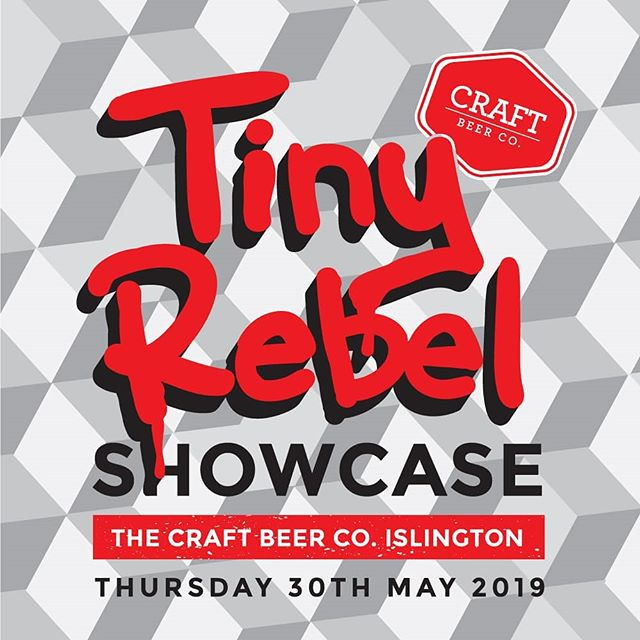 6 special beers from @tinyrebelbrewco will be hitting the taps over at @craftbeerco.n1 from 16:00 today! Be sure not to miss out 🍺💨
