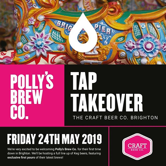 We're very excited to be welcoming Polly's Brew Co. at @craftbeercobn1 on Friday 24th May. 2019. We'll be hosting a full line up of Keg beers, featuring exclusive first pours of their latest brews!