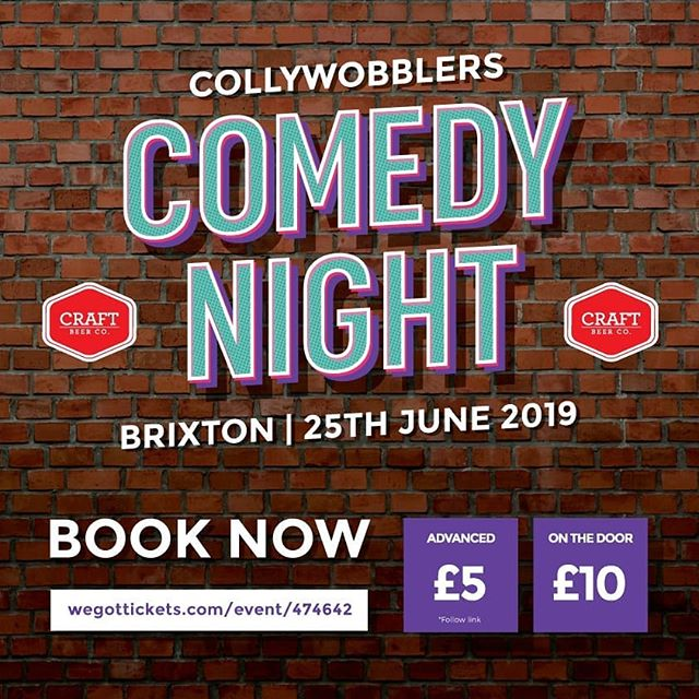 Join The Craft Beer Co. Brixton tomorrow for their end of June Comedy Night! Get in touch for further information regarding acts and booking: @craftbeercosw9