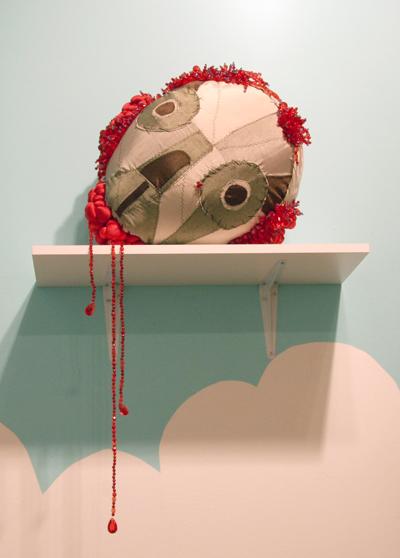 Skull with Blood Diamonds  Sculpture 2007