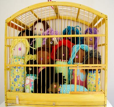 Caged Girls  Sculpture 2005