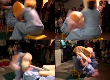 Sweethearts  Mixed media installation and performance (10 min) 2004