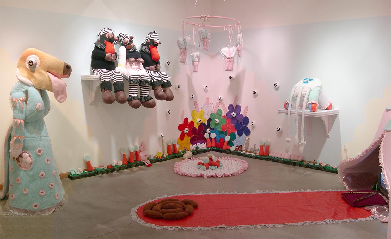 Lovescape  Installation at Zg Gallery, Chicago 2004