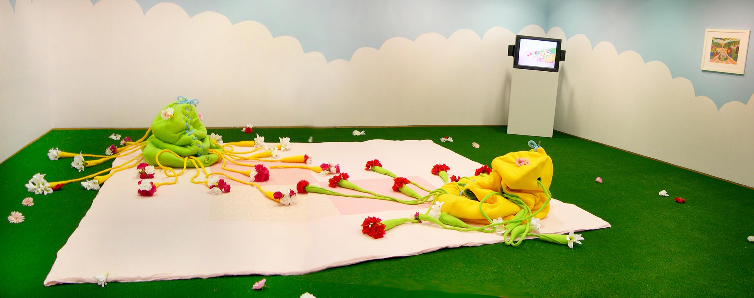 Paradise Imagined  Mixed media installation, performance (20 min) 2004