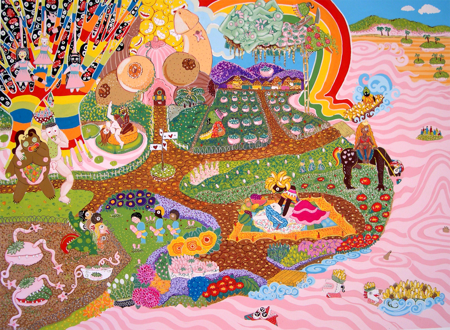 "Garden  Gouache on paper 30"" x 40"" 2005"