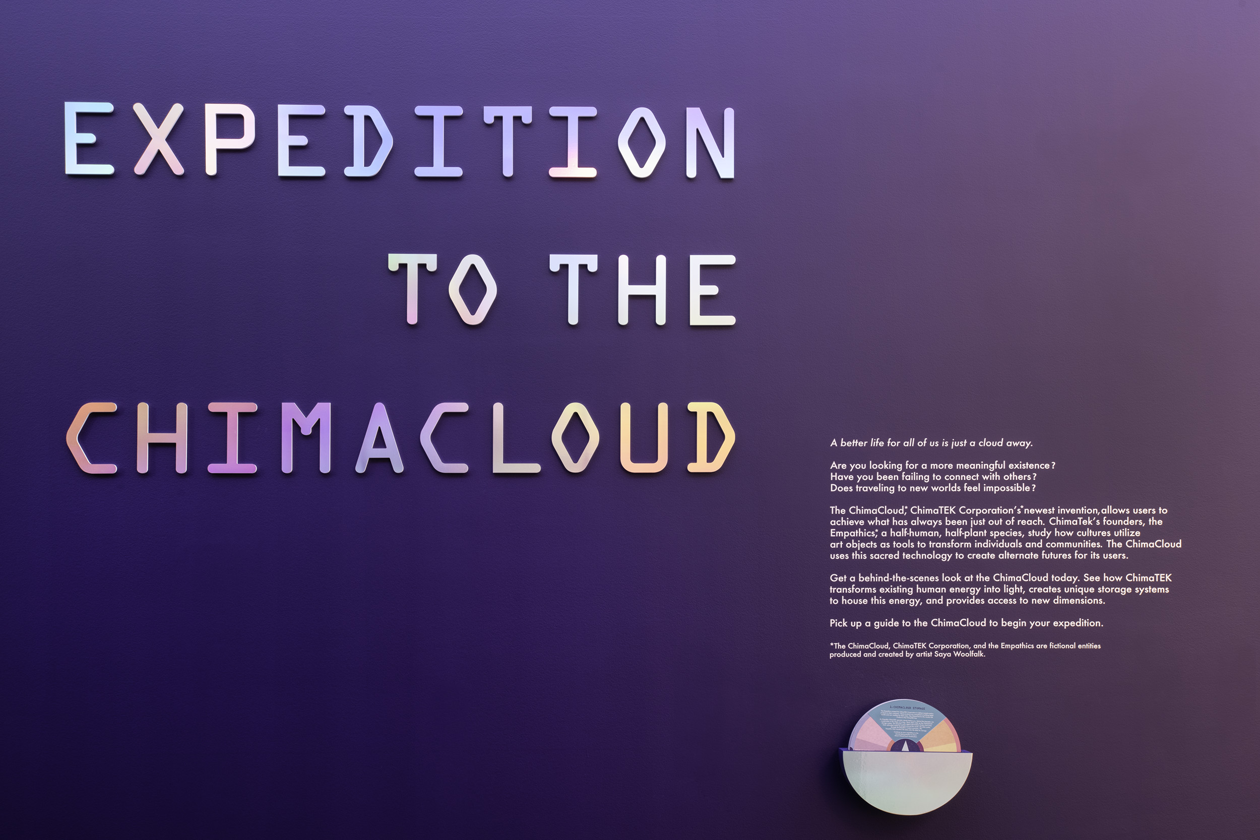 Saya Woolfalk: Expedition to the ChimaCloud  Installation View Nelson-Atkins Museum of Art, Kansas City, MO 2019